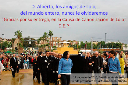 Fallece D. Alberto López Poveda, presidente de la Asociación Amigos de Lolo