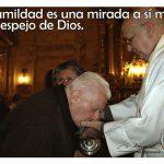 La humildad es una mirada a sí mismo en el espejo de Dios (TarjeCita del Beato Lolo)