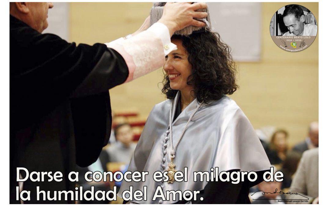 Darse a conocer es el milagro de la humildad del Amor (TarjeCita del Beato Lolo)