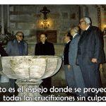 Cristo es el espejo donde se proyectan todas las crucifixiones sin culpa (TarjeCita del Beato Lolo)