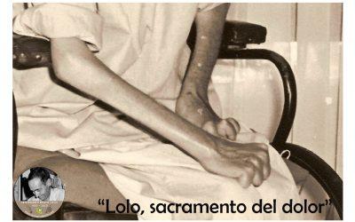 Lolo, sacramento del dolor (TarjeCita del Beato Lolo)