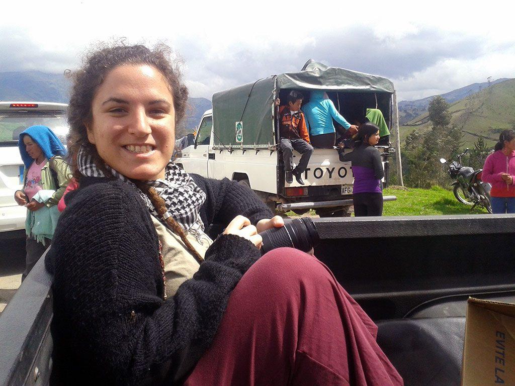 Cristina Sánchez Aguilar VI premio Lolo de Periodismo Joven en Ecuador