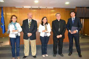 Elsa González, Rafael Ortega, Laura Daniele, Monseñor Ginés García y Álvaro de la Torre