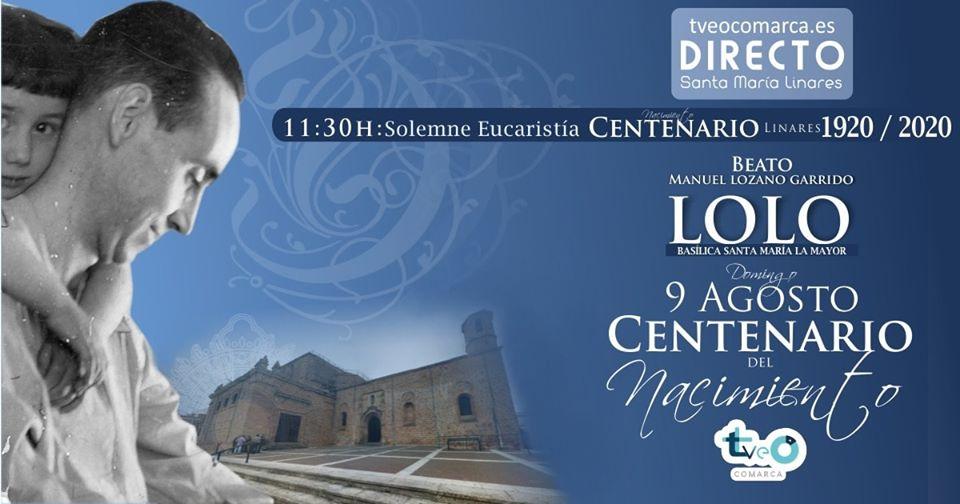 Retransmisión de la Misa del Centenario de Lolo en Tveocomarca.es