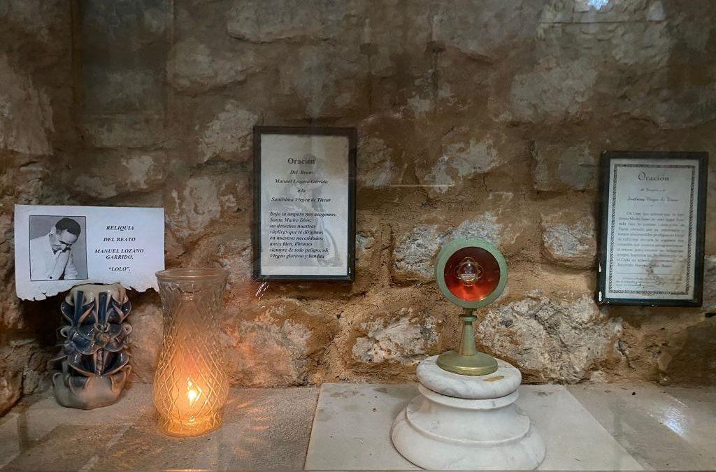 El beato Lolo en el Santuario de la Virgen de Tíscar