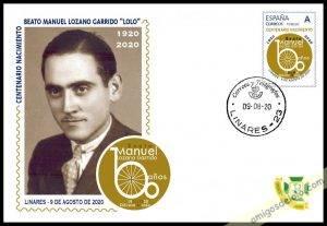 Sello conmemorativo del I Centenario del nacimiento de Manuel Lozano Garrido, el beato Lolo