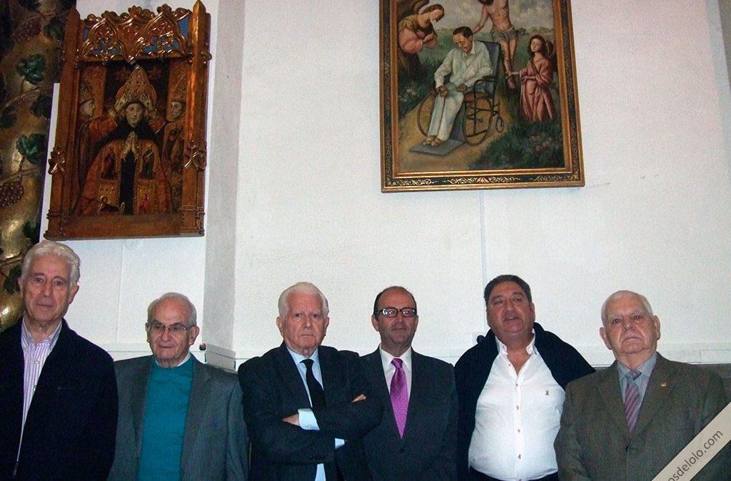 Retrato de Lolo en la iglesia de San Francisco de Linares