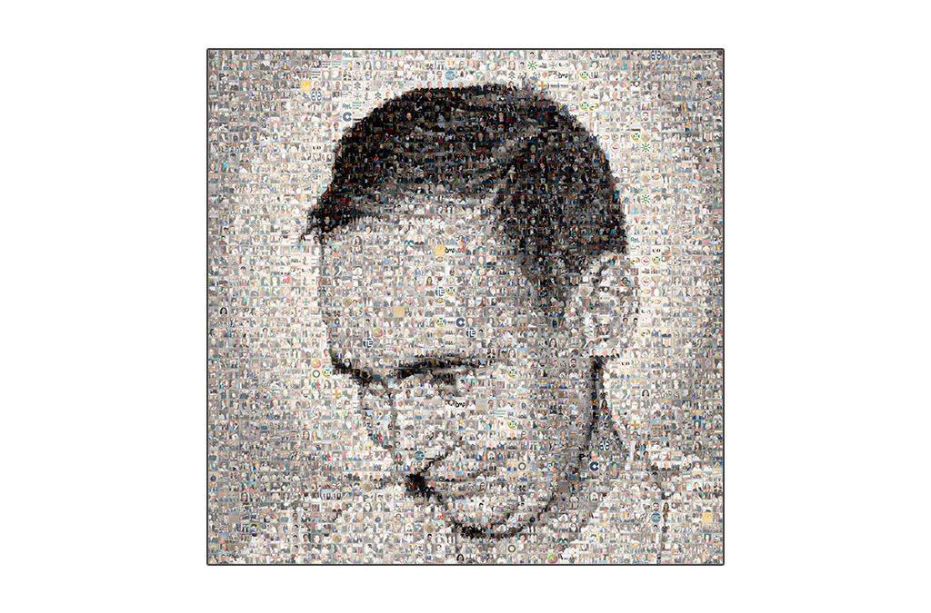 Mosaico de su Centenario, en el 101 cumpleaños de Lolo.