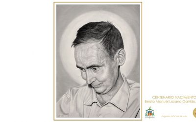 Cartel del Centenario del beato Manuel Lozano Garrido (por Francisco Galán)