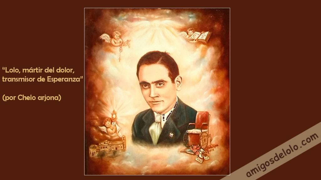Retrato del beato Manuel Lozano Garrido (por Chelo Arjona)