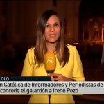 Irene Pozo recibe el Premio Lolo de Periodismo Joven