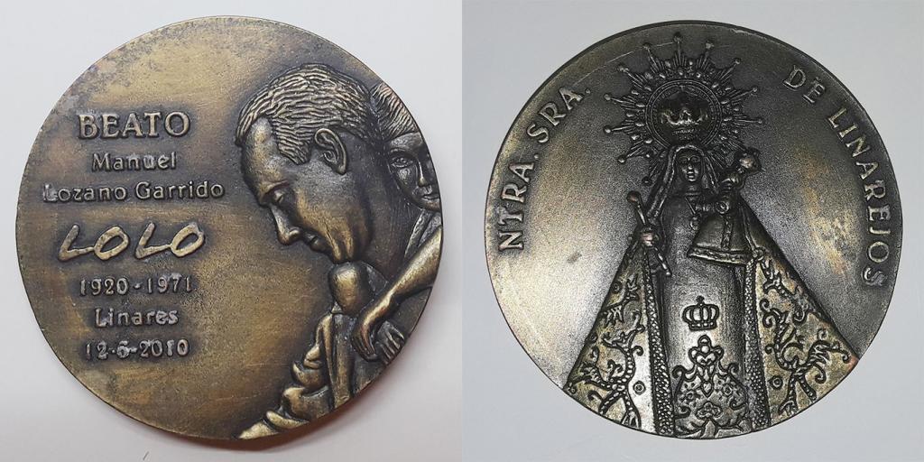 Medalla de la beatificación de Manuel Lozano Garrido