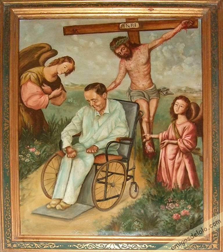 Retrato del beato Manuel Lozano Garrido 'Lolo', pintado por José Gascón