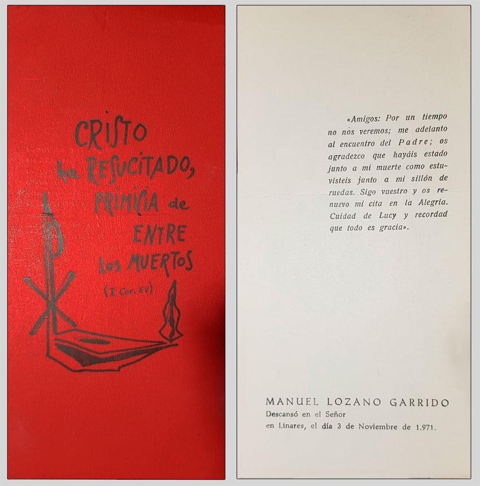 tarjeta roja recordatorio de la muerte de lolo