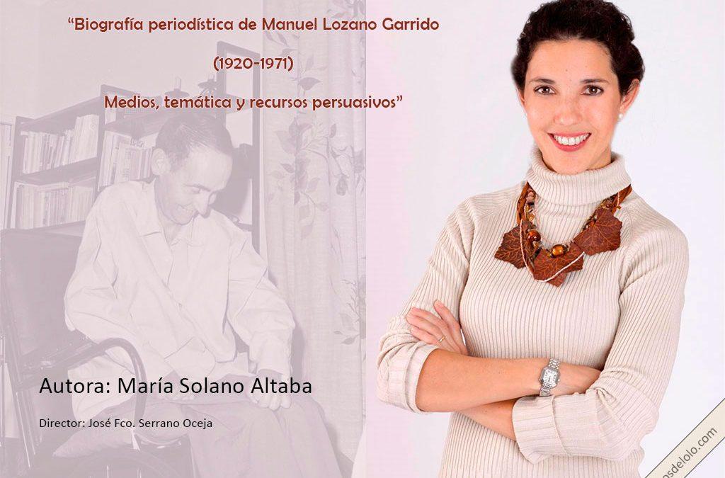 Manuel Lozano Garrido, Lolo, la buena persona que contó la mejor noticia